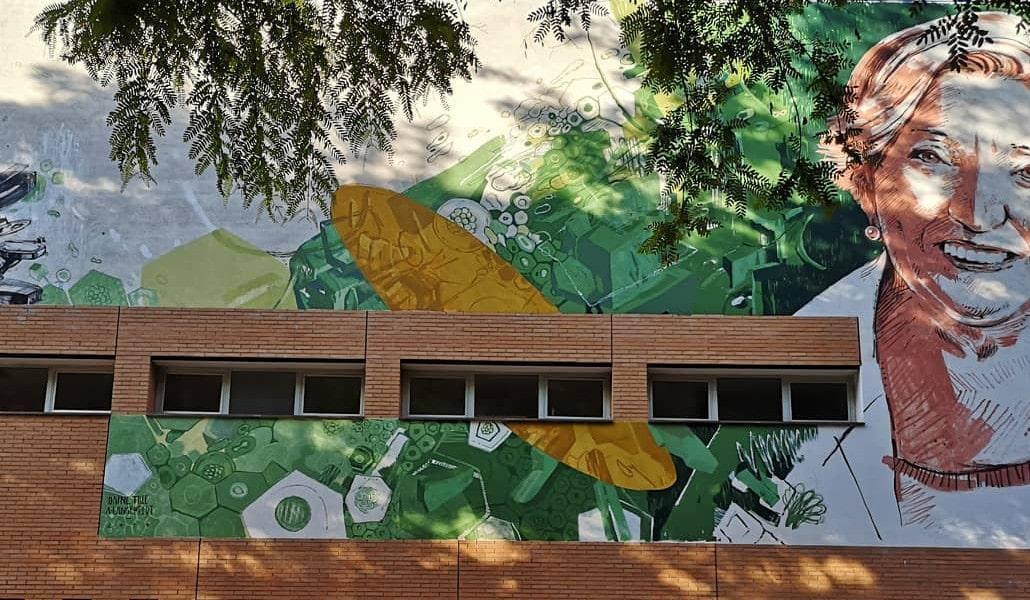 Un mural de Benimaclet homenajea a la oncóloga Anna Lluch