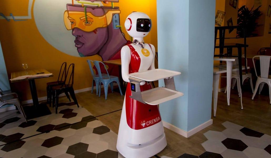 Crensa: el restaurante de Valencia con camareros robot