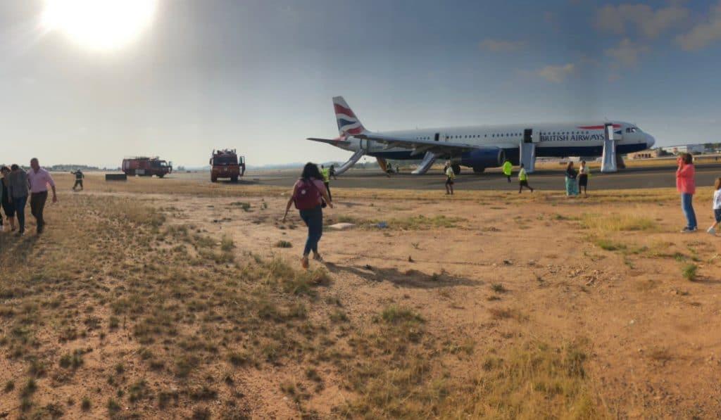 valencia aterrizaje emergencia