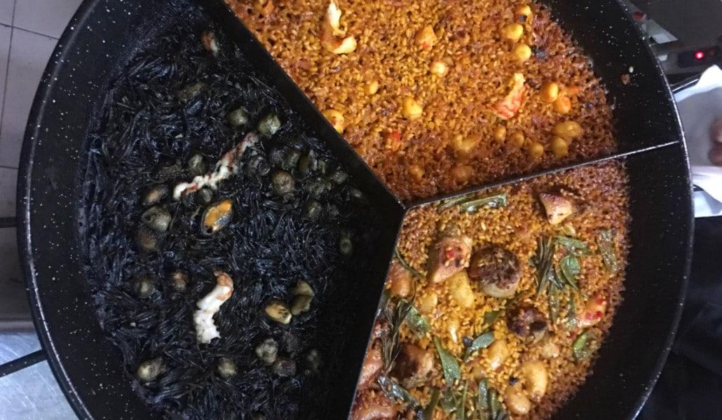 Una paella 'triple', la nueva creación del restaurante El Canyar