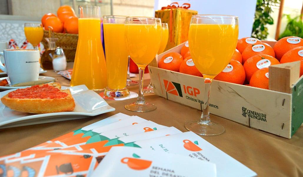 Semana del desayuno valenciano: zumo de naranja gratis en Valencia