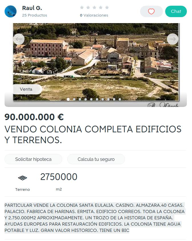 Wallapop Colonia Santa Eulalia