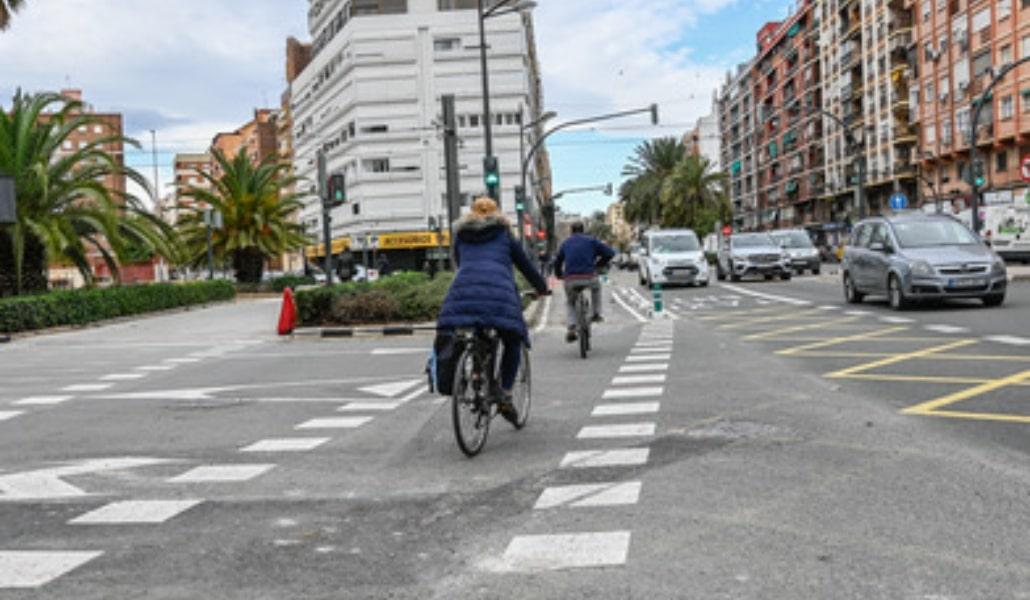Nuevo carril bici en Valencia