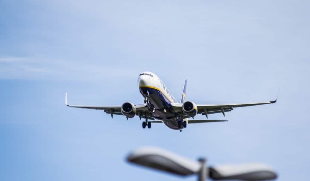 Aterrizaje frustrado en Valencia por la borrasca Gloria