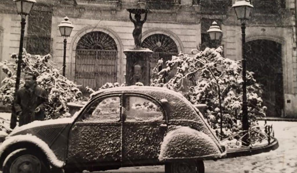 Así fue la gran nevada de 1960 en Valencia