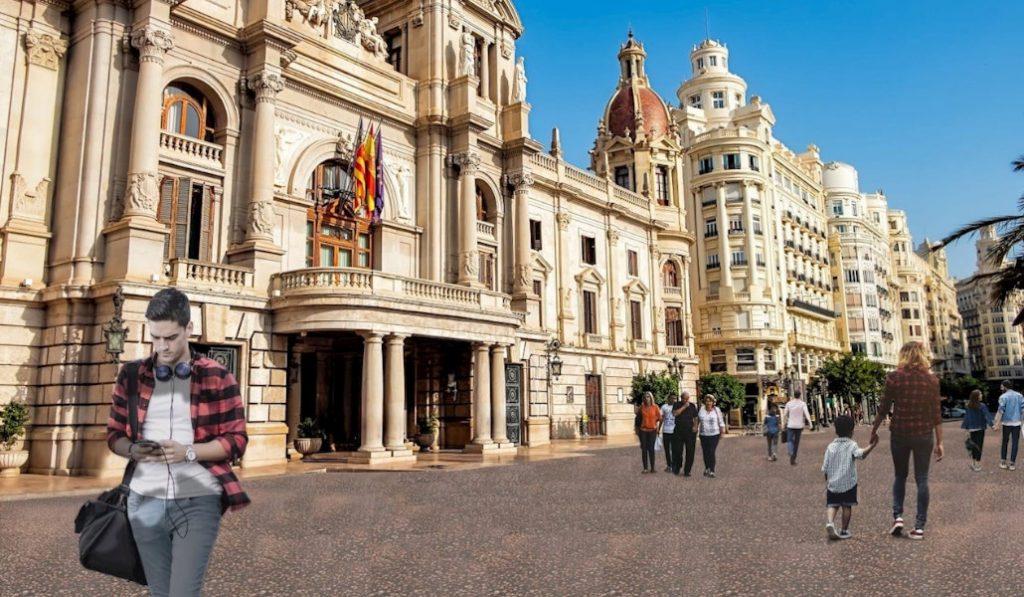 plaza ayuntamiento roja