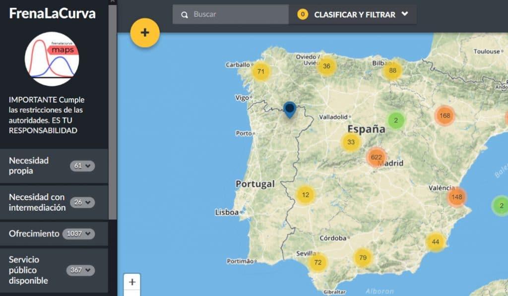 Frena la curva: un mapa para ayudarse entre vecinos en tiempos del coronavirus