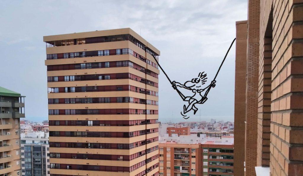 Así es como los valencianos transforman sus ventanas en obras de arte