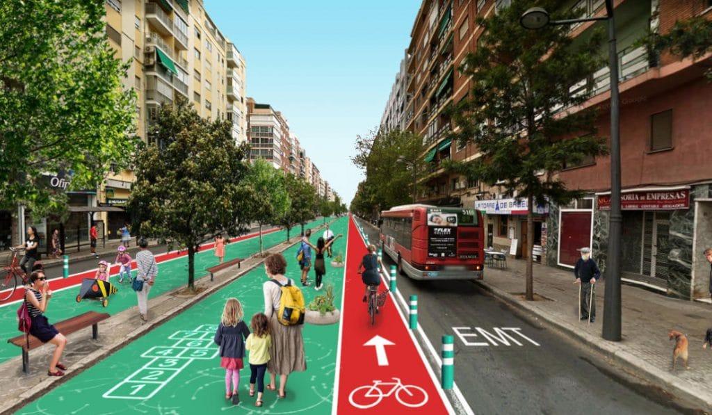 Proponen que Cardenal Benlloch se convierta en un gran bulevar para peatones y bicis