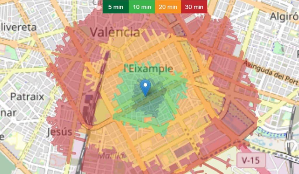 Esta 'app' valenciana te dice hasta dónde puedes pasear según el tiempo que tengas