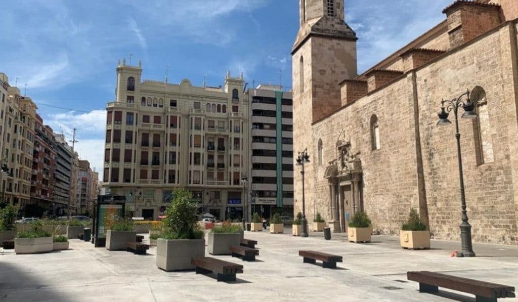 Así ha quedado la nueva plaza de San Agustín de Valencia