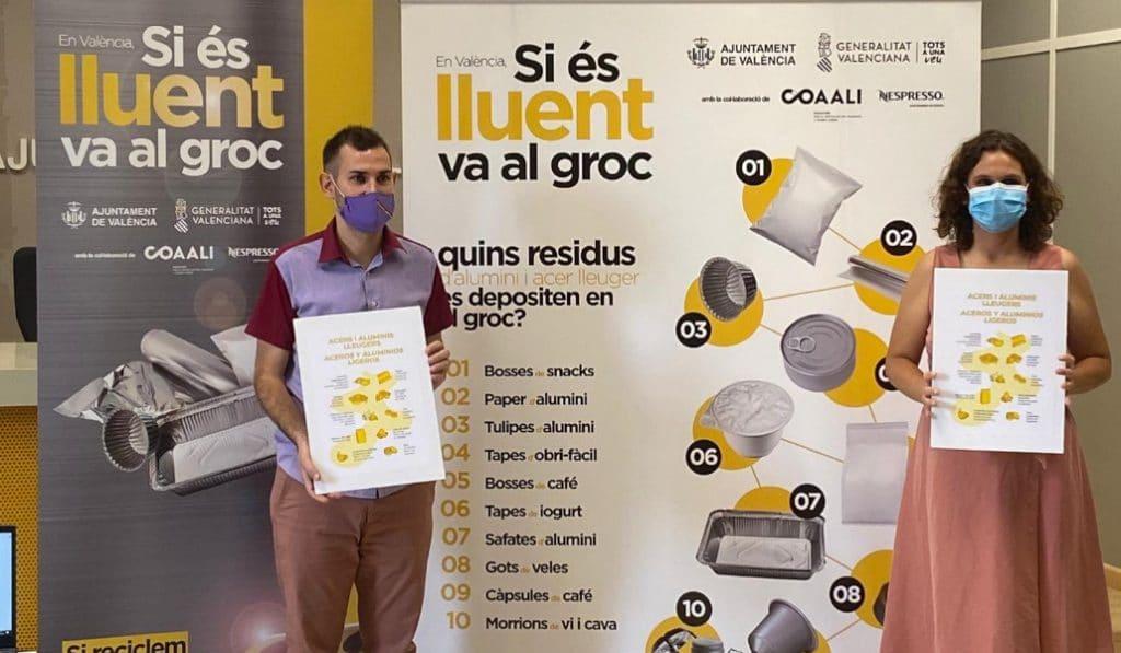 Valencia, primera ciudad de España en reciclar cápsulas de café, papel de aluminio o bolsas de snacks