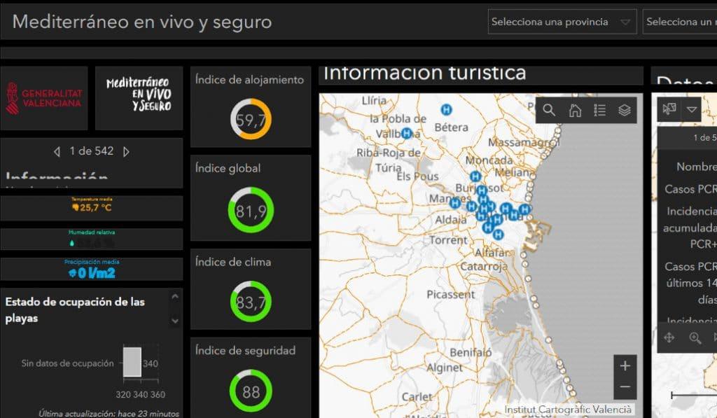 Esta web te dice cómo de seguro es tu destino de vacaciones en la Comunitat Valenciana