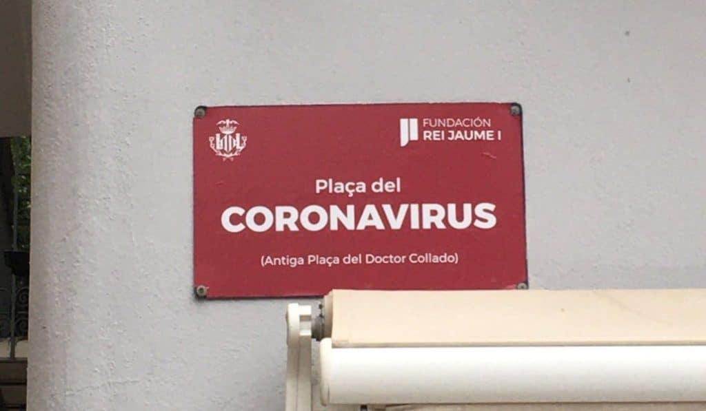 La Plaza Doctor Collado pasa a llamarse Plaza del Coronavirus de forma temporal