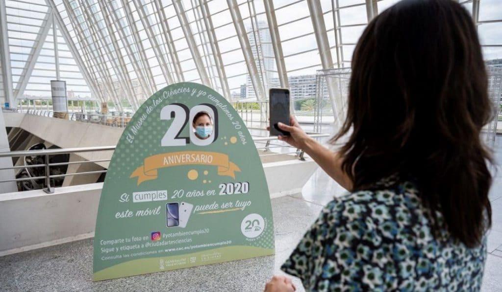 La Ciudad de las Artes y las Ciencias sortea un iPhone XR para celebrar su 20º aniversario