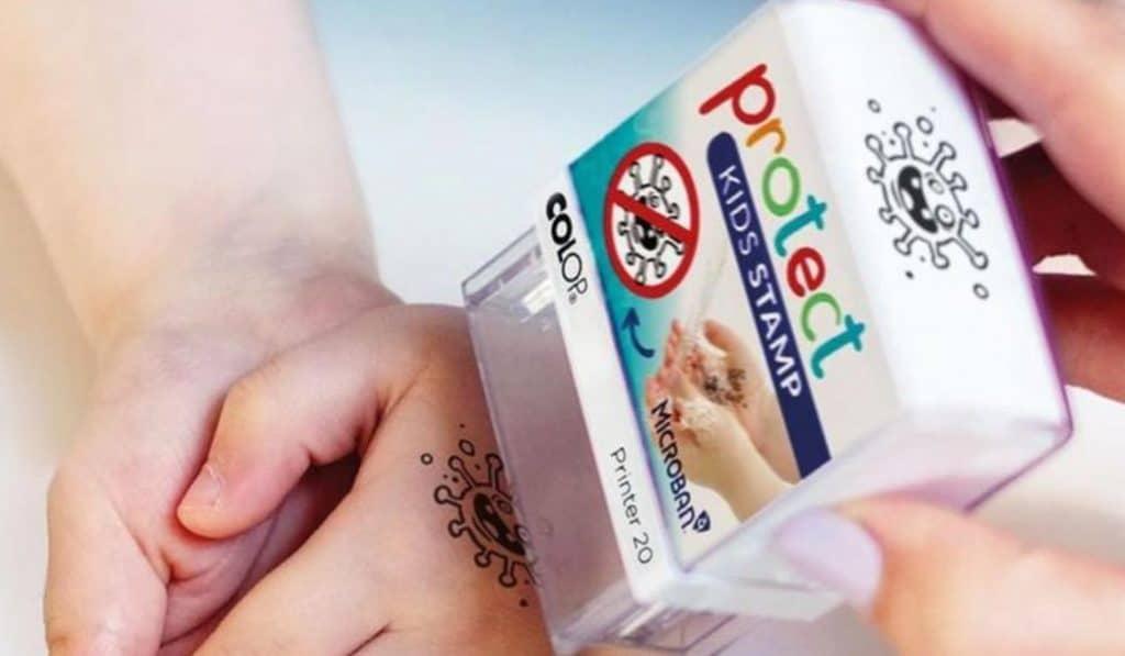 Este sello recordará a los niños que se laven las manos