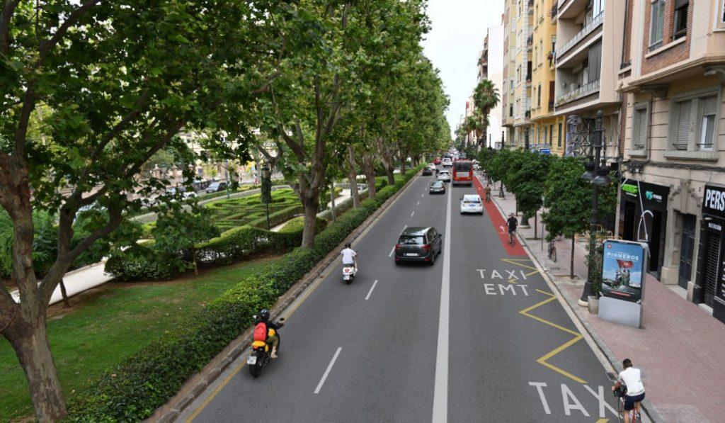 Así será el nuevo carril bici de Gran Vía
