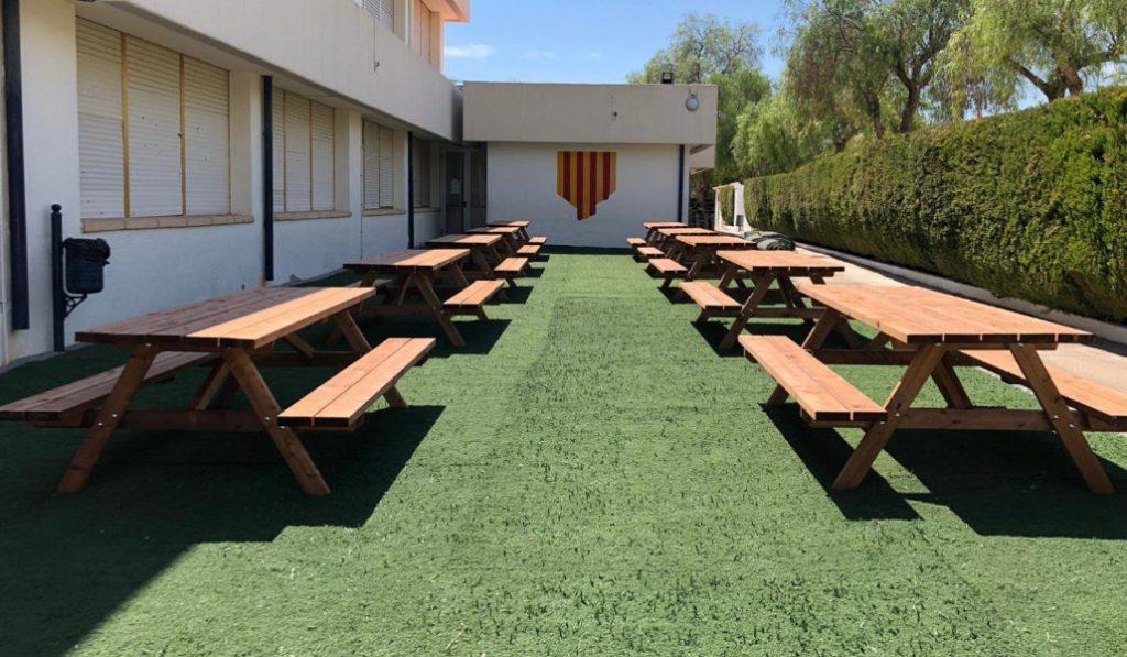 Este colegio de Xàbia es un ejemplo de las clases al aire libre