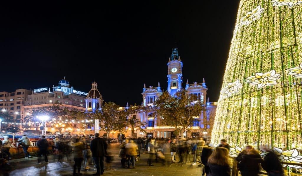 La Plaza del Ayuntamiento de Valencia estará cerrada en Nochevieja