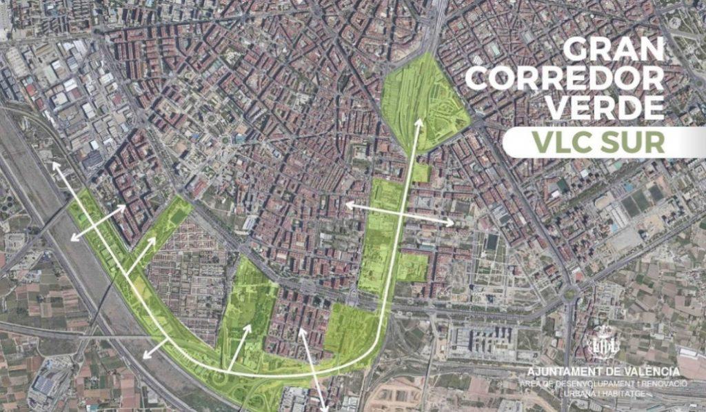 Valencia propone un corredor verde para conectar los barrios del sur