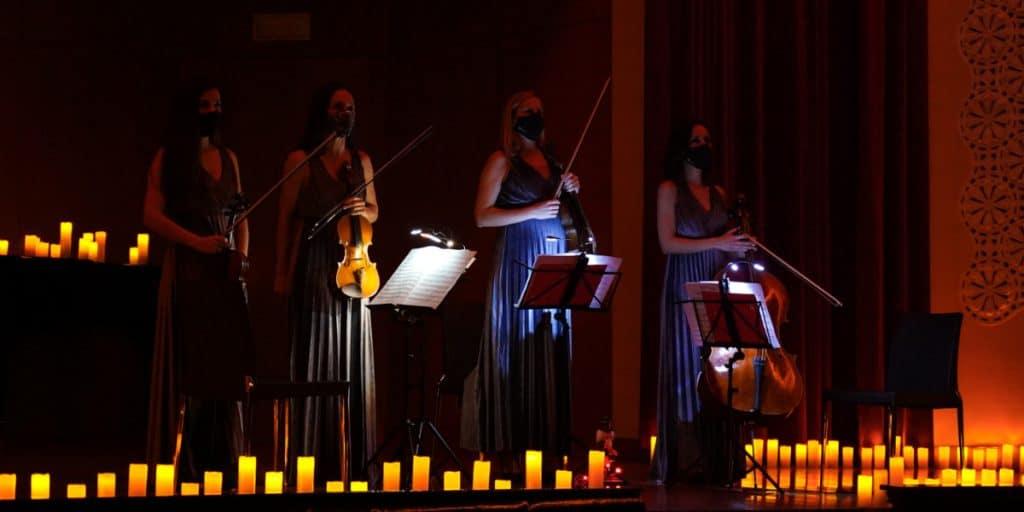 Cuarteto Valencia: las 4 mujeres que lideran los conciertos de Candlelight en Valencia
