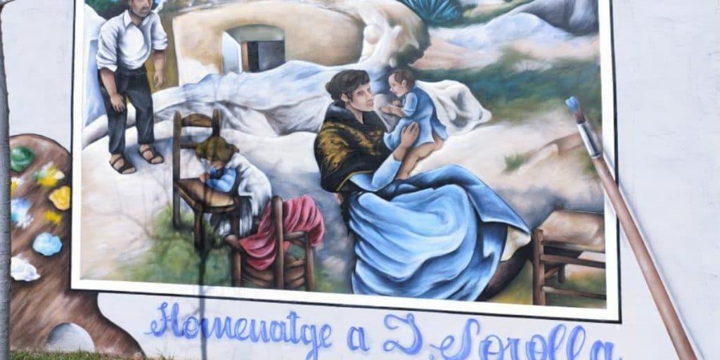 Así es el mural dedicado a Joaquín Sorolla en Valencia