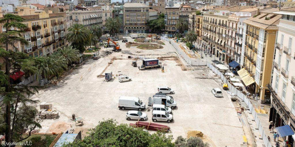 Así avanzan las obras de la plaza de la Reina de Valencia