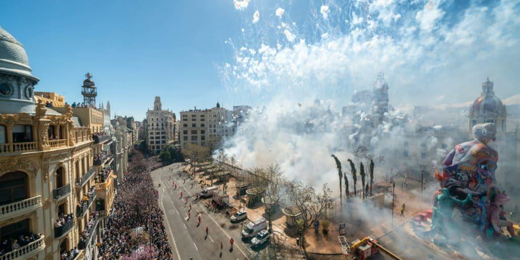 La Plaza del Ayuntamiento de Valencia tendrá 6 fallas este año
